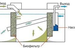 Схема очистки септика