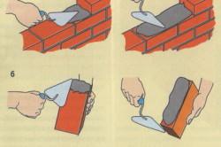 Способ кладки кирпича