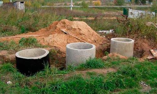 Локальная канализация из бетонных колец
