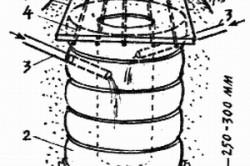 Схема выгребной ямы из автопокрышек.