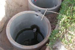 Пример септика из бетонных колец.